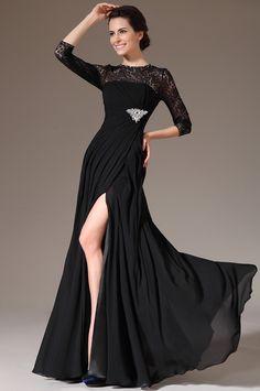 d143e4f70cc3 Black Long Sleeve Mermaid Prom Dress Formal Dress (26141200). OurletRobes  Mère De La MariéeRobe ...