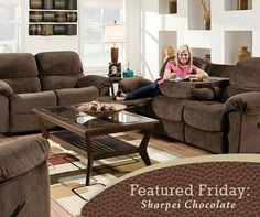 Merveilleux Perfect For Long Weekends Of Football Watching! Sharpei Chocolate Reclining  Sofa And Loveseat | American. 3 Piece Living Room Set.