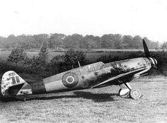Captured Me109 - RAF markings