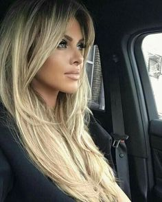 Best highlights balayage hair Rather so amandamajor com Beauté Blonde, Blonde Hair Bangs, Blonde Long Hair, Bangs Hairstyle, Wavy Hair, Pinterest Hair, Hair Highlights, Color Highlights, Great Hair