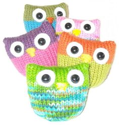 Knitting Owl Puffs Free pattern