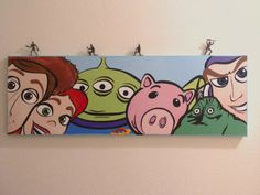 READY TO SHIP: 12 x 36 Canvas Wall Mural in Toy Story with 3D Military Figurines, Ready to Hang Fan Art. on Etsy, $70.00