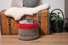 Toys box, Laundry basket, Large Crochet Storage Basket (made of cotton rope 5 mm with core - high quality cotton made in EU).  This Basket is perfect to organize toys, towels, laundry, shoes, books and magazines and whatever you need :)  The basket is Custom made. Please choose Your