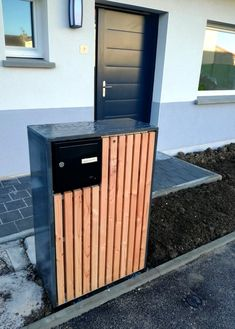 Parcel Box, House Numbers, Basement Remodeling, Mailbox, Garden Plants, Exterior Design, Shoe Rack, Facade, Diy And Crafts