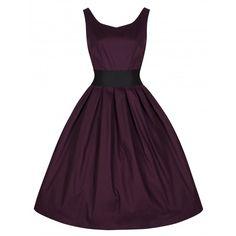 Lana Damson Swing Dress | Vintage Inspired Dresses - Lindy Bop