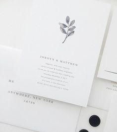 INVITATION SAMPLE Jordyn Simple Wedding by augustandwhitedesign