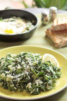 Spanakorizo, Greek Spinach Rice