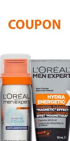 Coupon pour produits L'Oréal homme.  http://rienquedugratuit.ca/coupons/coupon-pour-produits-loreal-homme/