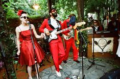 Wedding band the Creme Brulees Red Leather, Leather Jacket, Wedding Bands, Photoshoot, Jackets, Fashion, Studded Leather Jacket, Down Jackets, Moda