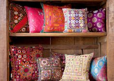 absolutely beautiful pillows. perfect for a neutral space to add instant color!