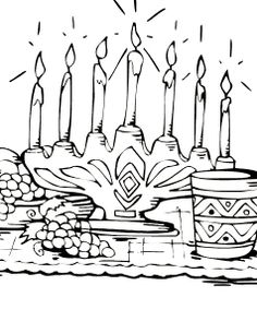 Happy Kwanzaa Holiday Coloring Pages