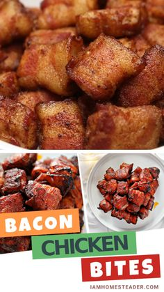 Bacon Chicken Bites are the perfect homemade appetizer for everyone! This is another recipe for your chicken- a mixture of sweet caramelized brown sugar and the spicy heat of cayenne pepper wrapped around in bacon and baked to perfection. Save this bacon wrapped chicken bites recipe!