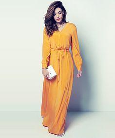 long sleeve maxi dresses from DKNY