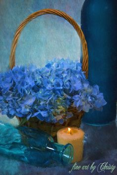 """imgPS Blue Flower Bouquet Still Life Painting"" by Christy Padgett Blue Flower Arrangements, Blue Flowers Bouquet, Painting Still Life, Still Life Art, Corel Paint, Hand Painted Textures, Still Life Flowers, Texture Painting, Framed Art Prints"