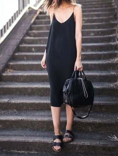 Ideas style casual black minimal classic for 2019 Casual Weekend Outfit, Casual Summer Dresses, Trendy Dresses, Nice Dresses, Dress Casual, Dress Summer, Summer Outfit, Maxi Dresses, Estilo Fashion