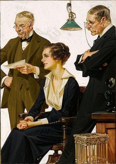 Joseph Christian Leyendecker (March 1874 – July was one of the pre-eminent . Norman Rockwell, American Illustration, Illustration Art, Traditional Paintings, Traditional Art, Joseph, Jc Leyendecker, Our Lady, Golden Age