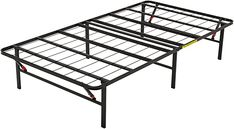 """Amazon.com: AmazonBasics Foldable, 14"""" Metal Platform Bed Frame with Tool-Free Assembly, No Box Spring Needed - Twin: Kitchen & Dining"""