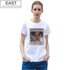 EAST STRICKEN Sommer-Marken-Frauen-T-Stücke Lustiges Frauen-T-Shirt Leonardo DiCaprio gedrucktes Schmutz-Weiß-T-Shirt Grafik-T-Stücke  #Übergrößen #Schwarz #TShirts #Grau #Herrenschuhe #Ganter #Shoerassic #Navy