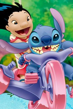 Lilo and stich Walt Disney, Disney Love, Disney Art, Disney Wallpaper, Galaxy Wallpaper, Iphone Wallpaper, Cartoon Wallpaper, Lelo And Stich, Simba Y Nala