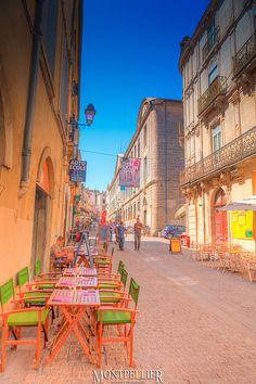 Rue de l'Université, Montpellier, Languedoc-Roussillon, France