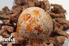 Nefis Sultan Pilav? Sultan, Meat Recipes, Grains, Rice, Food, Essen, Meals, Seeds, Yemek