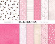 Modern Digital Paper in pink and beige  digital backgrounds - 12 jpg files - INSTANT DOWNLOAD 505 ValerianeDigital 3.00 USD