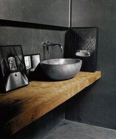 Muebles de madera en baños