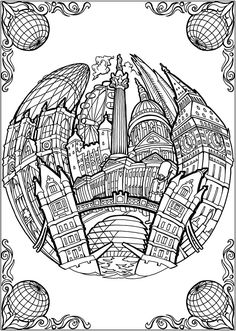 Creative Haven Circular Cities Coloring Book Welcome to Dover ...
