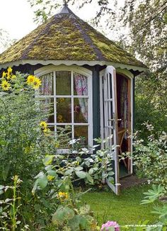 I'd like my studio to look out onto the sycamore trunk and bank, towards the house but also catch west evening light too. I'd like my studio to look out onto the sycamore trunk and bank, towards the house but also catch west evening light too. Garden Buildings, Garden Structures, Outdoor Rooms, Outdoor Gardens, Gazebos, She Sheds, Building A Shed, Building Plans, My Secret Garden
