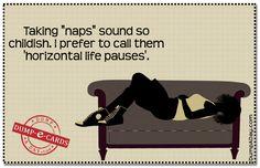 Taking naps Dump E-card