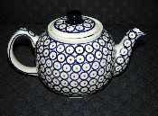 Vintage Boleslawiec Pottery Large Tea Pot
