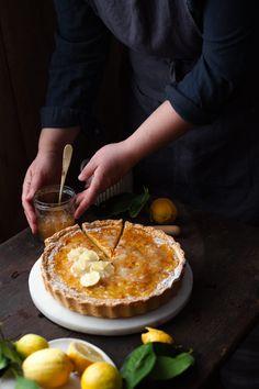 Crostata con crema al limone Camembert Cheese, Dairy, Food, Essen, Meals, Yemek, Eten
