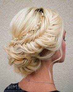 braided wedding hairstyle updo via Hair & Makeup by Steph \/
