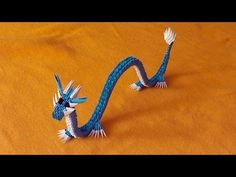 3D origami Chinese dragon tutorial Gyarados, Dratini (video with a surprise ending) - YouTube