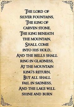 I love Tolkien's poems