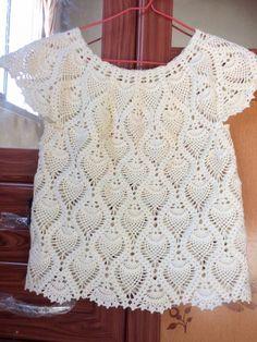 Crochet Skirts, Crochet Blouse, Crochet Clothes, Crochet Top, Crochet Hats, Crochet Vest Pattern, Crochet Doily Patterns, Crochet Doilies, Diy Crafts Knitting