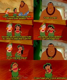 I love Lilo and Stich! One of my top 3 favorite Disney movies! Humour Disney, Disney Memes, Disney Quotes, Funny Disney, Disney Pixar, Disney And Dreamworks, Cartoon Characters, Walt Disney, Lilo Stitch