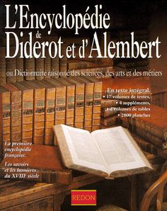 L'ENCYCLOPEDIE DE DIDEROT ET D'ALEMBERT OU.... Denis Diderot ...