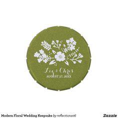Modern Floral Wedding Keepsake Candy Tins