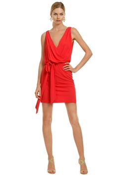 Haute Hippie Try Not to Stare Dress - Look red hot hitting the town in this fiery number! You'll be getting free drinks all night!