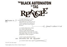From Douglas Kearney, The Black Automaton, 2009, http://douglaskearney.com/, experimental poetry & layout