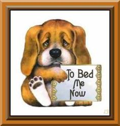 Bedtime for little Puppy<br> Good Night Wishes, Good Night Sweet Dreams, Good Night Moon, Good Night Image, Good Night Quotes, Morning Quotes, Night Time, Moon Pictures, Moon Pics