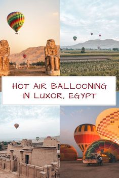 Everything you need to know about Hot Air Ballooning in Luxor: Prices, Safety, Best Time, Tips & Tricks etc. Plus Inspiring Photos & Videos! Air Balloon Rides, Hot Air Balloon, Egypt Travel, Africa Travel, Egypt Museum, Valley Of The Kings, Visit Egypt, Morocco Travel, Luxor Egypt