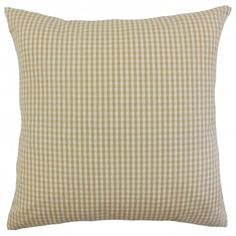 Needing a style makeover? This throw pillow has everything you need to reinvent your rooms. With its versatile and classic plaid pattern in shades of brown and white, it can easily blend with your existing home accessories. Adorn your sofa, bed or chair with this together with other patterns from our collection. Made from 100% cotton fabric. Crafted in the USA. $55.00 #plaid #homedecor #throwpillow #interiorstyling