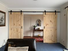 Cabin Design, House Design, Pallette Furniture, Interior Sliding Barn Doors, Girl Bedroom Designs, Internal Doors, Bathroom Interior Design, Home Staging, Home Living Room