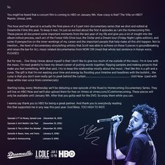 Cole: Road to Homecoming (Episode Music Station, J Cole, Im Excited, Mini Me, Homecoming, Documentaries, Rap, Film, Reading