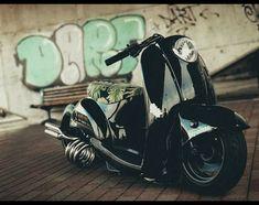 Custom Motorcycles, Custom Bikes, Cars And Motorcycles, Motor Scooters, Vespa Scooters, Honda Metropolitan, Mini Chopper, Scooter Custom, Honda Ruckus