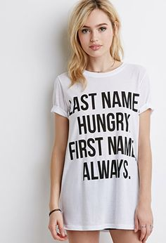 Last Name Hungry Tee | Forever 21 - 2000154083