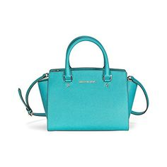 Michael Kors Jet Set Travel East West Tote Tile Blue Leather Bag