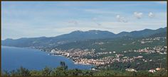Opatija - Opatija is situated in the Gulf of Kvarner in a sheltered position at the foot of Učka mountain, with Vojak peak at 1401 m.